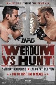 UFC 180 Werdum vs Hunt Poster