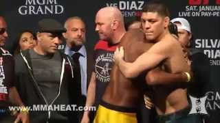 UFC 183 Silva vs Diaz Weighins and Staredowns LIVE 4pm PT  Unedited