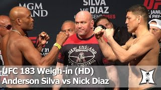 UFC 183 Anderson Silva vs Nick Diaz Weighin and Face Off HD