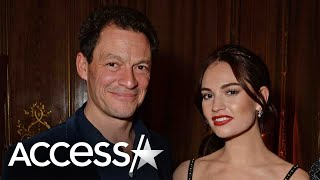 Lily James Shocked At Dominic Wests Marriage Statement Reports