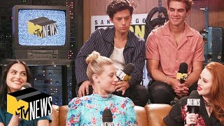 Riverdale Cast Talks Relationships Theories  Archies Shirtless Moments in Season 4  MTV News