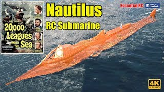 NAUTILUS RC Submarine Captain NEMO Jules Vernes 20000 LEAGUES UNDER THE SEA UltraHD and 4K