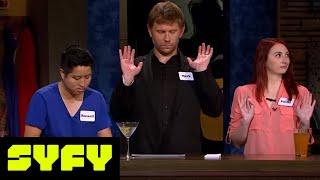 GEEKS WHO DRINK Clips  Mark Pellegrino vs Brett Dalton in Mathbusters  SYFY