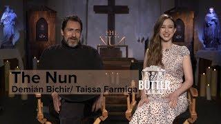 The Nun interviews Taissa Farmiga and Demin Bichir