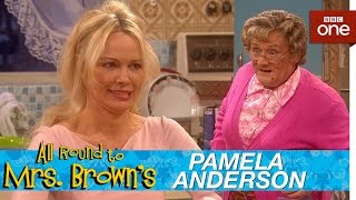 Pamela Anderson in Mrs Browns kitchen  All Round to Mrs Browns Episode 1  BBC One