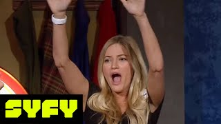 GEEKS WHO DRINK Clips  iJustine vs Alan Tudyk In Texts From Last Fight  SYFY