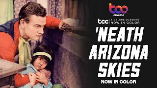 NEATH THE ARIZONA SKIES Full Movie  John Wayne  Sheila Terry  TCC AI Color