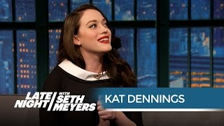 Kat Dennings Wants the 2 Broke Girls to Get Rich  Late Night with Seth Meyers