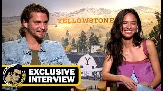 Luke Grimes and Kelsey Asbille YELLOWSTONE Interview JoBlocom Exclusive