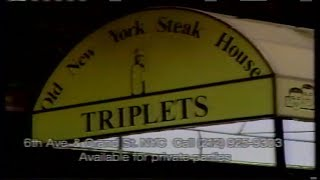 Three Identical Strangers Triplets Old New York Steakhouse commercial