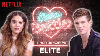 Spanish vs English Flirting with the Cast of Elite  Charm Battle  Netflix