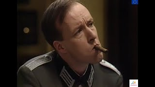 ALLO ALLO  Lt Gruber needs to Pair his Cognac with a Cigar BUT is Offered a Light  CEU Tv