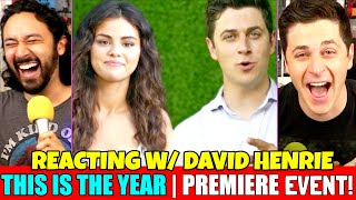 Selena Gomez THIS IS THE YEAR Premiere Event REACTION INTERVIEW W Guest David Henrie
