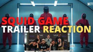 SQUID GAME Official Trailer Reaction NETFLIX WMK REACTS