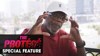 The Protg 2021 Movie Special Feature Jackson on Campbell Samuel L Jackson Martin Campbell