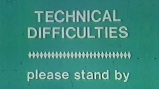 WCAE Channel 50  321 Contact Technical Difficulties Moment 1980